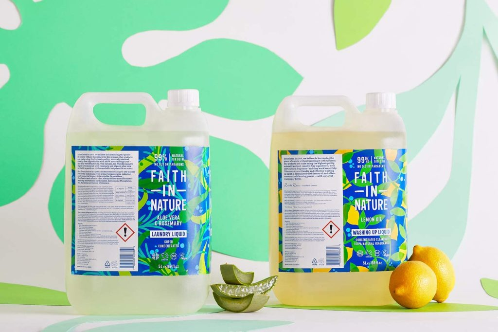 Faith In Nature Natural, Super Concentrated, Laundry Liquid with Aloe Vera and Rosemary Oil, Vegan and Cruelty Free, No SLS, Parabens or Phosphates, 5 L Refill Pack