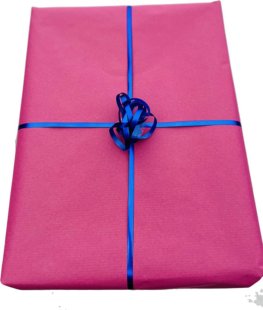 Hot Pink Kraft Wrapping Paper 100% Recycled Paper 50cm x 3m Wide ROLL Recyclable, eco-Friendly, Sustainable, Bright Pink Wrapping Paper, Pink Gift wrap roll, Fuchsia Wrapping Paper 3m
