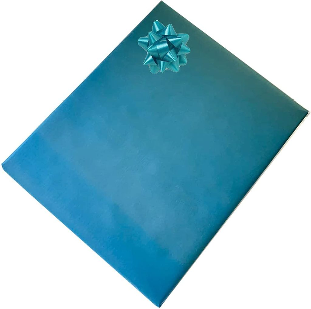 Kraft Wrapping Paper Turquoise 100% Recycled Paper